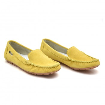 Mokasyny Nessi 17130 Żółte