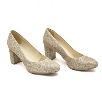 Czółenka , elegnckie półbuty pantofle Kordel 1614/0 Beż