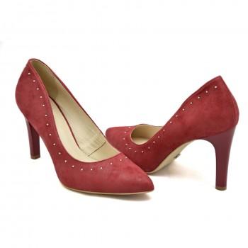 Eleganckie buty Kordel 1841 Czerwone