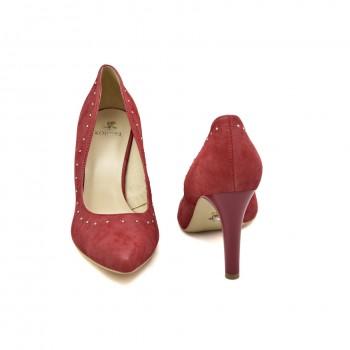 Wygodne buty wizytowe Kordel 1841 Czerwone