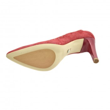 Wygodne dobrze wyprofilowane buty na szpilce Kordel 1841 Czerwone