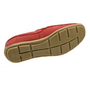 Stylowe i nowoczesne męskie półbuty Komodo 890 Czerwone